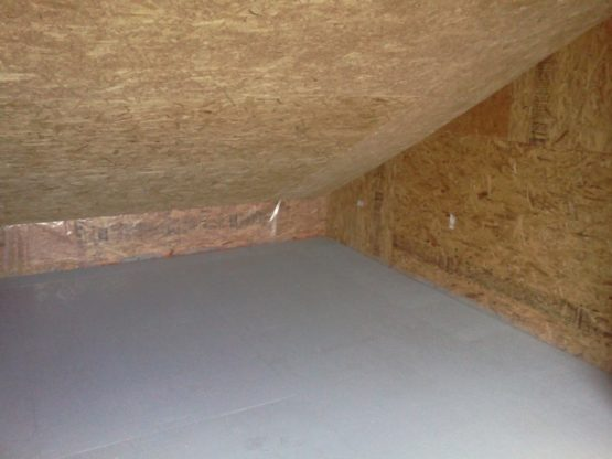 upstairs storage unit - slanted roof