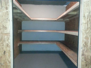 Storage Unit NC With Shelves 100sq ft.