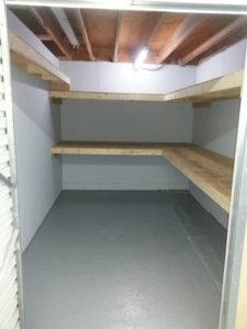 Ruffn Self Storage Mebane North Carolina Large Unit With Shelves
